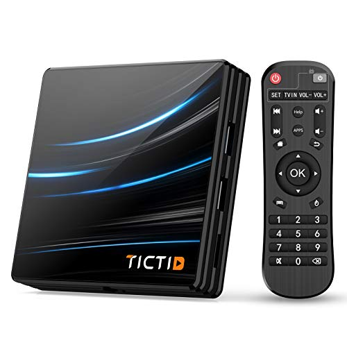 TICTID Android TV Box Android 10.0 【4G + 64G】 RK3318 Android TV Box D1 Pro Quad-Core 64bit Cortex-A53 / WiFi 2.4G / 5.0G / Bluetooth 4.0 / 4K / HD / USB 3.0 / H.265 Android TV Box